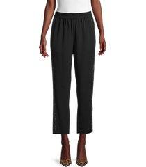 kobi halperin women's saige embellished pants - black - size xs