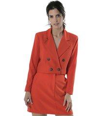 blazer rojo symmetria covunco plus size