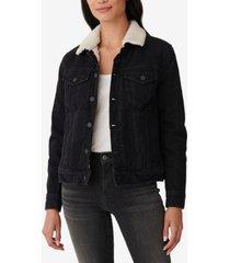 lucky brand faux-sherpa trucker jacket