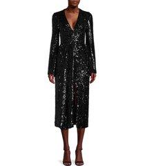 galvan women's moonlight sequin dress - black - size 34 (2)