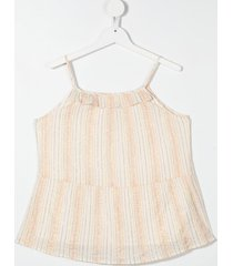 bonpoint teen vertical-stripe top - neutrals
