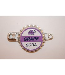 "replica ellie badge grape soda bottle cap pin!! ""up"" sticker gift bag included"