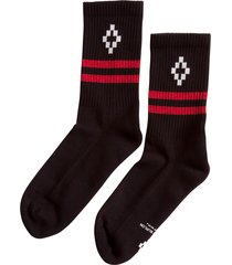 marcelo burlon county of milan logo knit socks