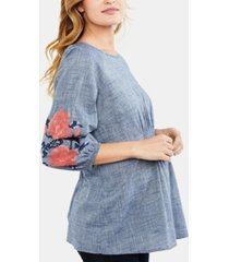a pea in the pod maternity embroidered blouse