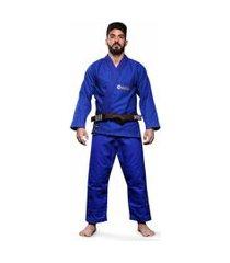 kimono jiu jitsu atama trançado classic - azul