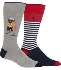 polo ralph lauren men's cprl bear crew socks