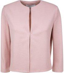 harris wharf london round neck canvas jacket