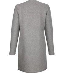 sweatshirtjacka dress in grå