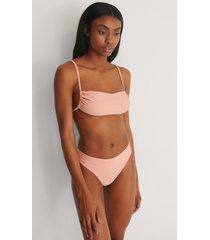 marije zuurveld x na-kd recycled bikiniunderdel med hög midja - pink