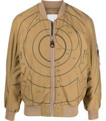neighborhood tgt-1 cotton bomber jacket - neutrals