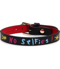 women's christian louboutin loubilink leather bracelet
