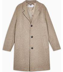 mens brown oat classic overcoat