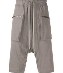 rick owens drkshdw drop-crotch shorts - grey
