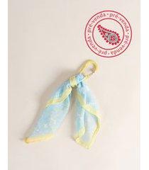 [pré-venda] chaveiro lenço paisley - acqua u