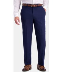 haggar men's active series herringbone classic-fit suit separate pants