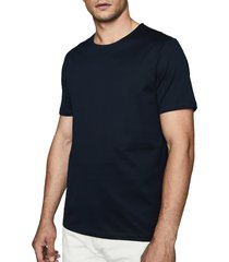 men's reiss balham solid crewneck t-shirt, size small - blue