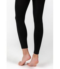 karen footless fleece tights - black