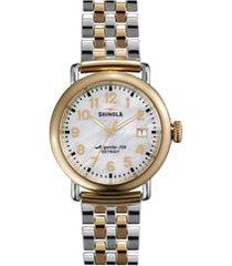 women's shinola 'the runwell' bracelet watch, 36mm