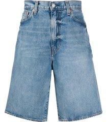 levi's wide-leg denim bermuda shorts - blue