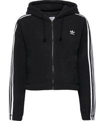 adicolor classics polar fleece full-zip hoodie w sweat-shirts & hoodies fleeces & midlayers svart adidas originals