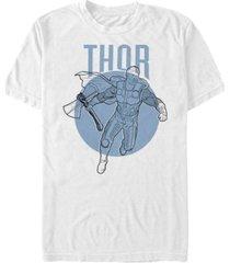 marvel men's avengers thor simple line art short sleeve t-shirt