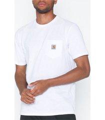 carhartt wip s/s pocket t-shirt t-shirts & linnen white