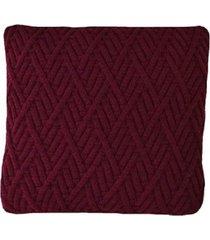capa almofada tricot 45x45cm c/zãper sofa trico cod 1025 marsala - vinho - feminino - dafiti