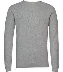 bs cinto stickad tröja m. rund krage grå bruun & stengade