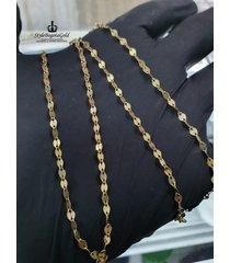 cadena 18k tejido criss cross
