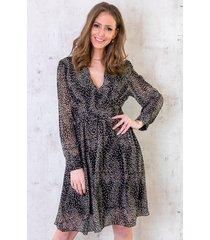 cheetah jurk dames zwart