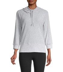 marc new york performance women's heathered raglan-sleeve hoodie - vapor heather - size s