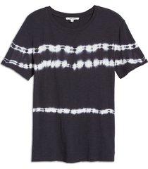 women's splendid felix tie dye t-shirt, size small - blue