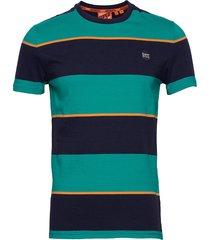 collective stripe tee t-shirts short-sleeved grön superdry