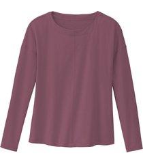 shirt met lange mouw van bio-katoen, wilde roos 36/38