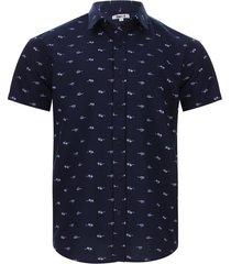 camisa lentes color azul, talla s