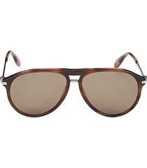 alexander mcqueen women's 60mm aviator sunglasses - brown