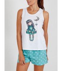 pyjama's / nachthemden admas pyjama korte tank top into the ocean santoro wit