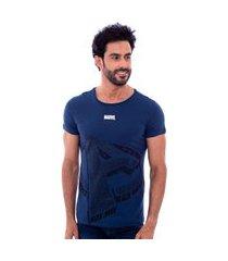 camiseta masculina marvel the avengers em silk marinho