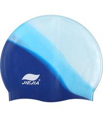 donna uomo impermeabile silicone cuffia da nuoto elasticizzata