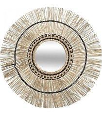 lustro ścienne rama z trawy morskiej pili