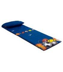 colchonete com travesseiro pitangueiras fa colchões azul