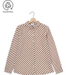 camisa beige-café vero moda