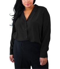 maree pour toi plus size silk blouse