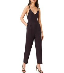 french connection women's anana whisper jumpsuit - utility blue - size 2