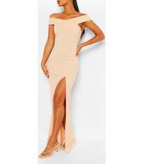off shoulder maxi dress, blush