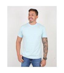 camiseta basica manga curta masculina lucas lunny lisa azul .
