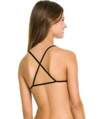 sutiã triângulo cactos capricho - 545.012 capricho lingerie sutiã top multicolorido