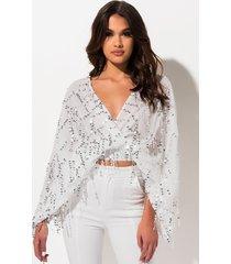 akira be a boss sequin blouse
