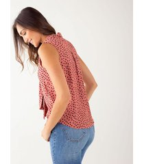 camisa polka dots con lazo