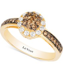 le vian chocolatier diamond ring (1/2 ct. t.w.) in 14k gold